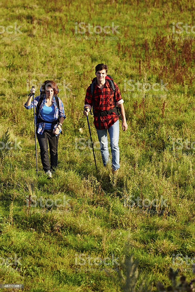 Independent travelers royalty-free stock photo
