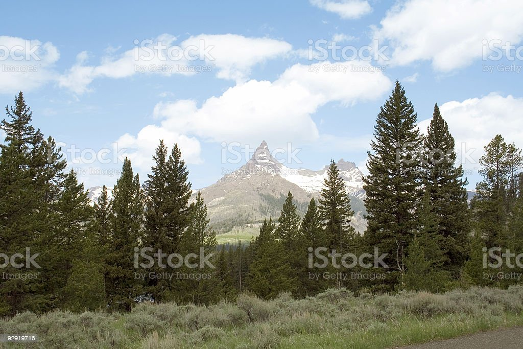 Index and Pilot Peaks stock photo