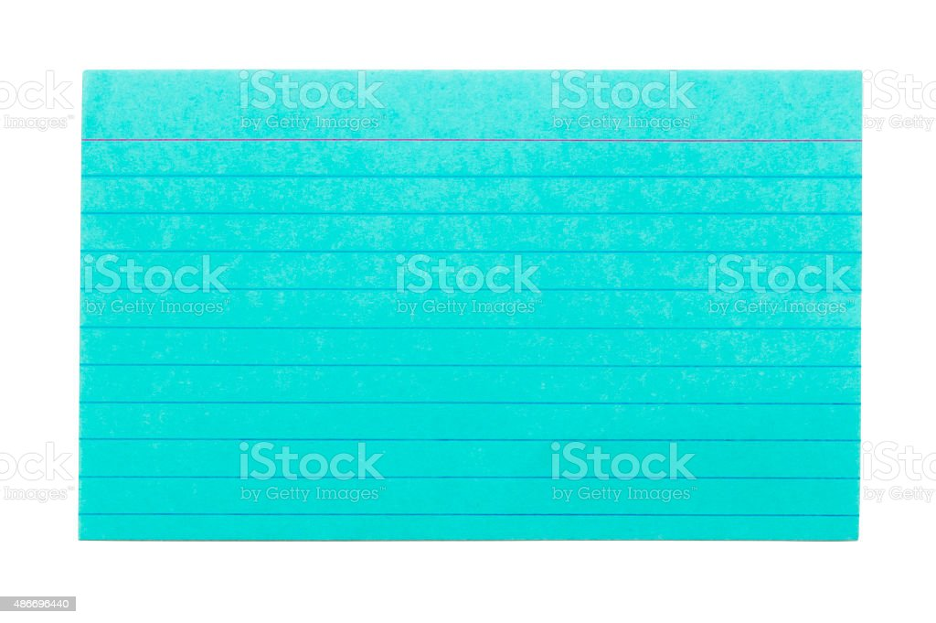 Index Card 2 stock photo