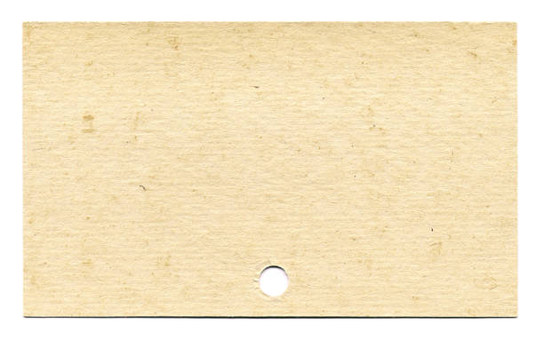 Index card on white background stock photo