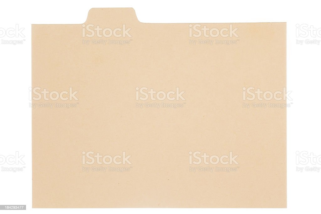 Index card royalty-free stock photo
