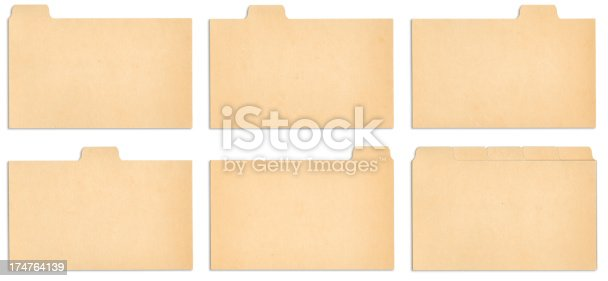 istock Index Card Tabs with outline paths. 174764139