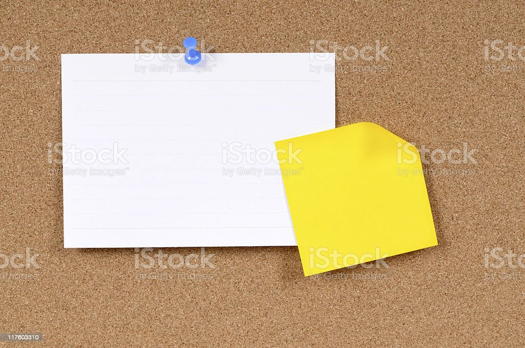Index card with sticky note royalty-free stock photo