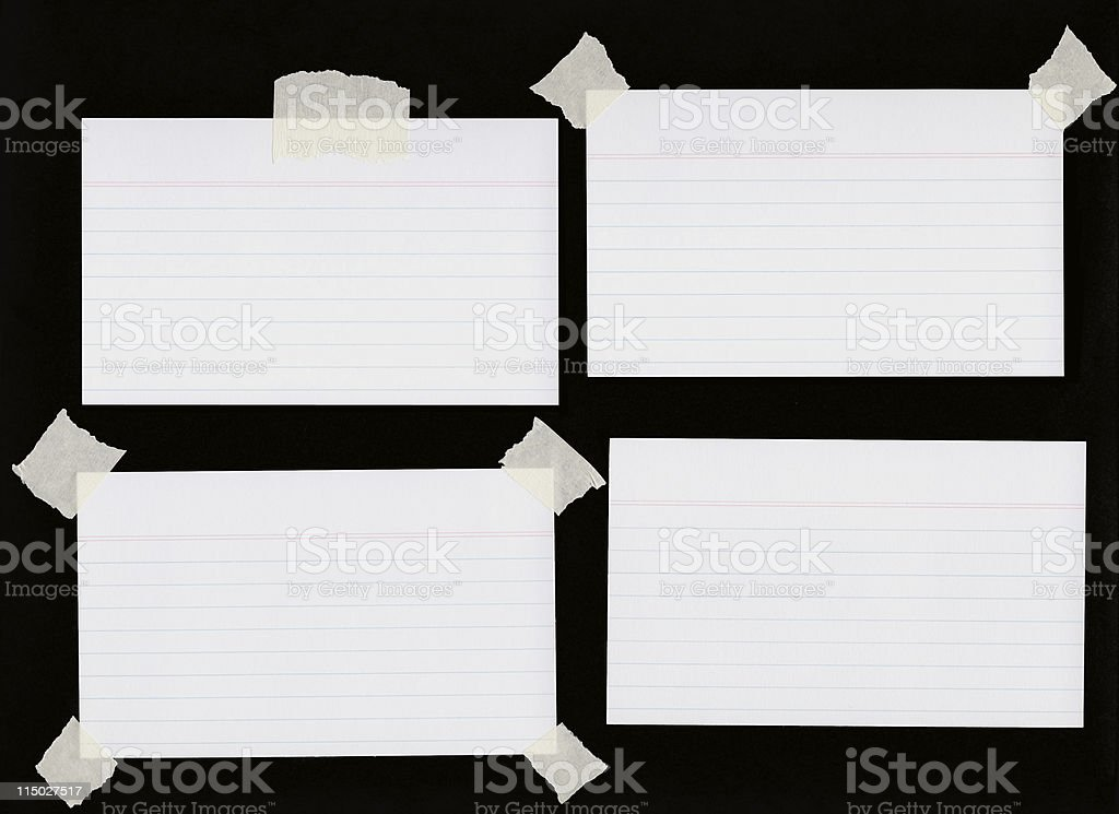 Index Cards stock photo