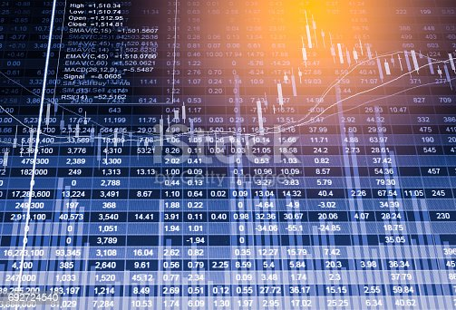 807152606istockphoto Index graph of stock market financial indicator analysis on LED. Abstract stock market data trade concept. Stock market financial data trade graph background. Global financial graph analysis concept. 692724540