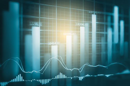 807152606 istock photo Index graph of stock market financial indicator analysis on LED. Abstract stock market data trade concept. Stock market financial data trade graph background. Global financial graph analysis concept. 807152606