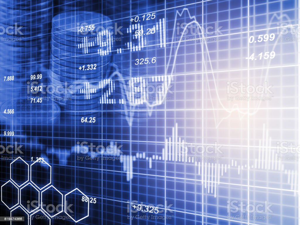 Index Graph Of Stock Market Financial Indicator Analysis On