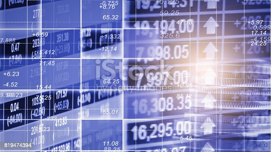 807152606istockphoto Index graph of stock market financial indicator analysis on LED. Abstract stock market data trade concept. Stock market financial data trade graph background. Global financial graph analysis concept. 819474394