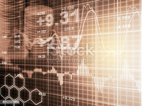 807152606istockphoto Index graph of stock market financial indicator analysis on LED. Abstract stock market data trade concept. Stock market financial data trade graph background. Global financial graph analysis concept. 820207086