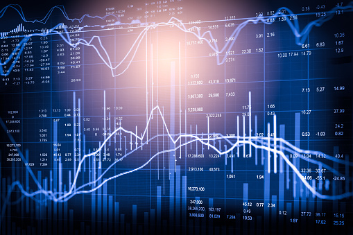 807152606 istock photo Index graph of stock market financial indicator analysis on LED. Abstract stock market data trade concept. Stock market financial data trade graph background. Global financial graph analysis concept. 828283530