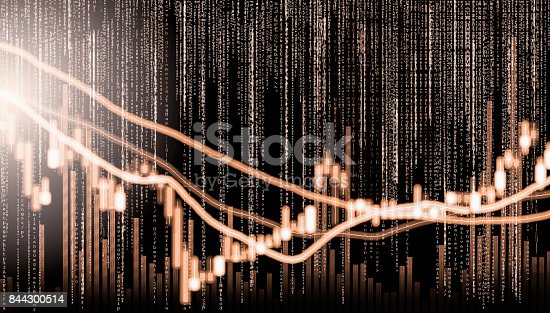807152606istockphoto Index graph of stock market financial indicator analysis on LED. Abstract stock market data trade concept. Stock market financial data trade graph background. Global financial graph analysis concept. 844300514