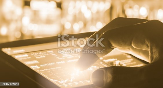 892516664istockphoto Index graph of stock market financial indicator analysis on LED. Abstract stock market data trade concept. Stock market financial data trade graph background. Global financial graph analysis concept. 860718920