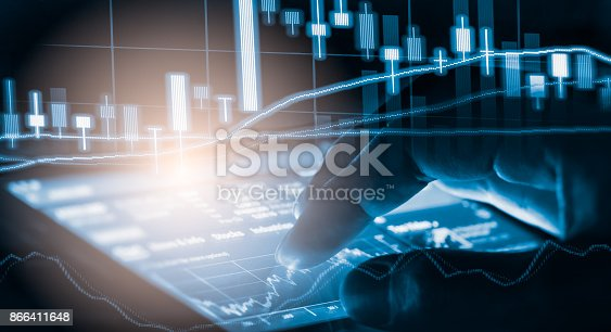 892516664istockphoto Index graph of stock market financial indicator analysis on LED. Abstract stock market data trade concept. Stock market financial data trade graph background. Global financial graph analysis concept. 866411648