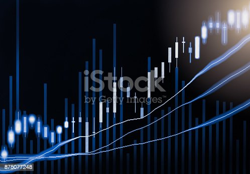 892516664istockphoto Index graph of stock market financial indicator analysis on LED. Abstract stock market data trade concept. Stock market financial data trade graph background. Global financial graph analysis concept. 875077248