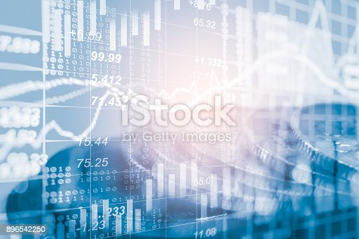 892516664istockphoto Index graph of stock market financial indicator analysis on LED. Abstract stock market data trade concept. Stock market financial data trade graph background. Global financial graph analysis concept. 896542250