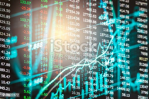 892516664istockphoto Index graph of stock market financial indicator analysis on LED. Abstract stock market data trade concept. Stock market financial data trade graph background. Global financial graph analysis concept. 915922372