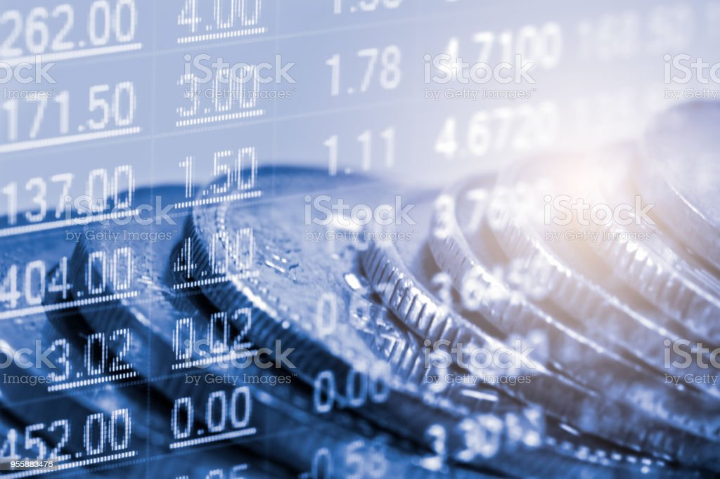Index-Diagramm der Börse finanzieller Indikator Analyse auf LED. Abstrakte Börse Daten-Trade-Konzept. Aktienmarkt Finanzdaten Handel Diagrammhintergrund. Globale finanzielle Graph-Analyse-Konzept. – Foto