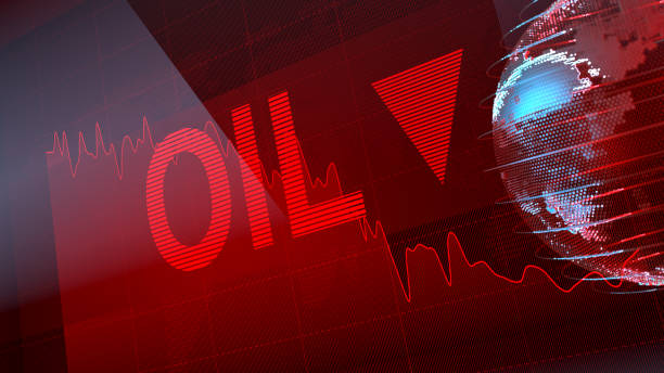 Index of Oil Go Down stock photo