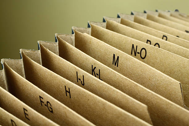 Indexed Folder Indexed Folder telephone directory stock pictures, royalty-free photos & images