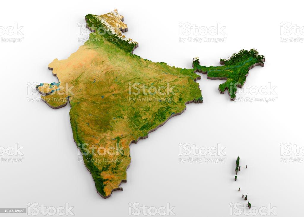 Carte Inde Relief.Photo Libre De Droit De Inde Carte Physique 3d Avec Relief