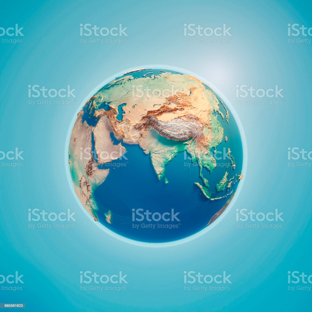 India 3D Render Planet Earth stock photo