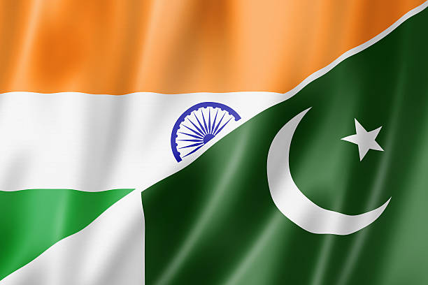 india and pakistan flag - pakistani flag stock photos and pictures