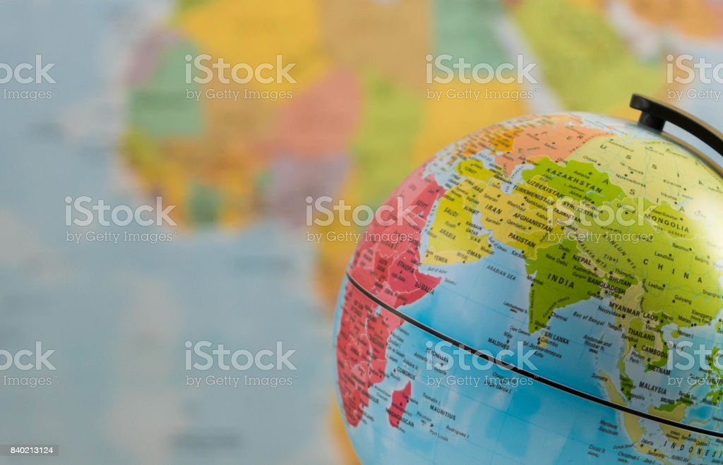 India and the world stock photo