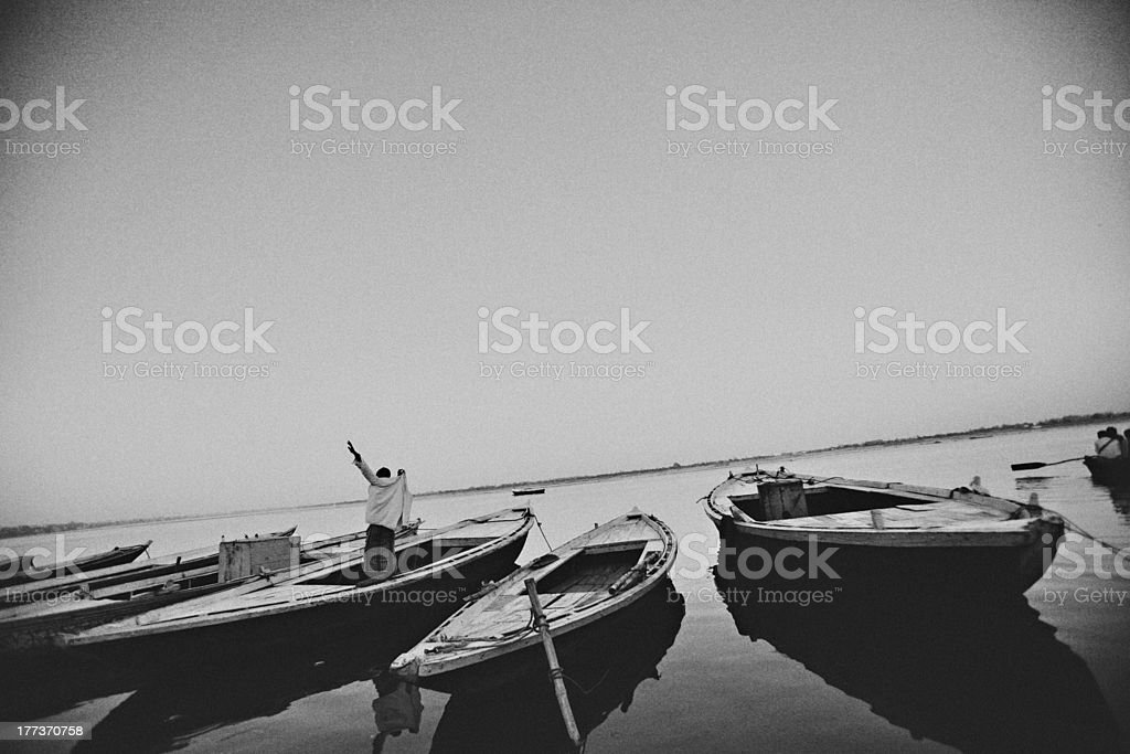 india boatman royalty-free stock photo