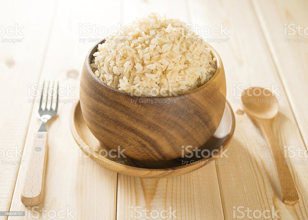 India cooked organic basmati brown rice royalty-free stock photo