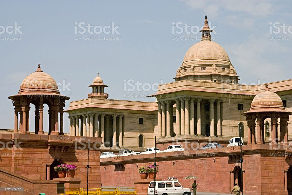 India: Delhi Courts Building royalty-free stock photo