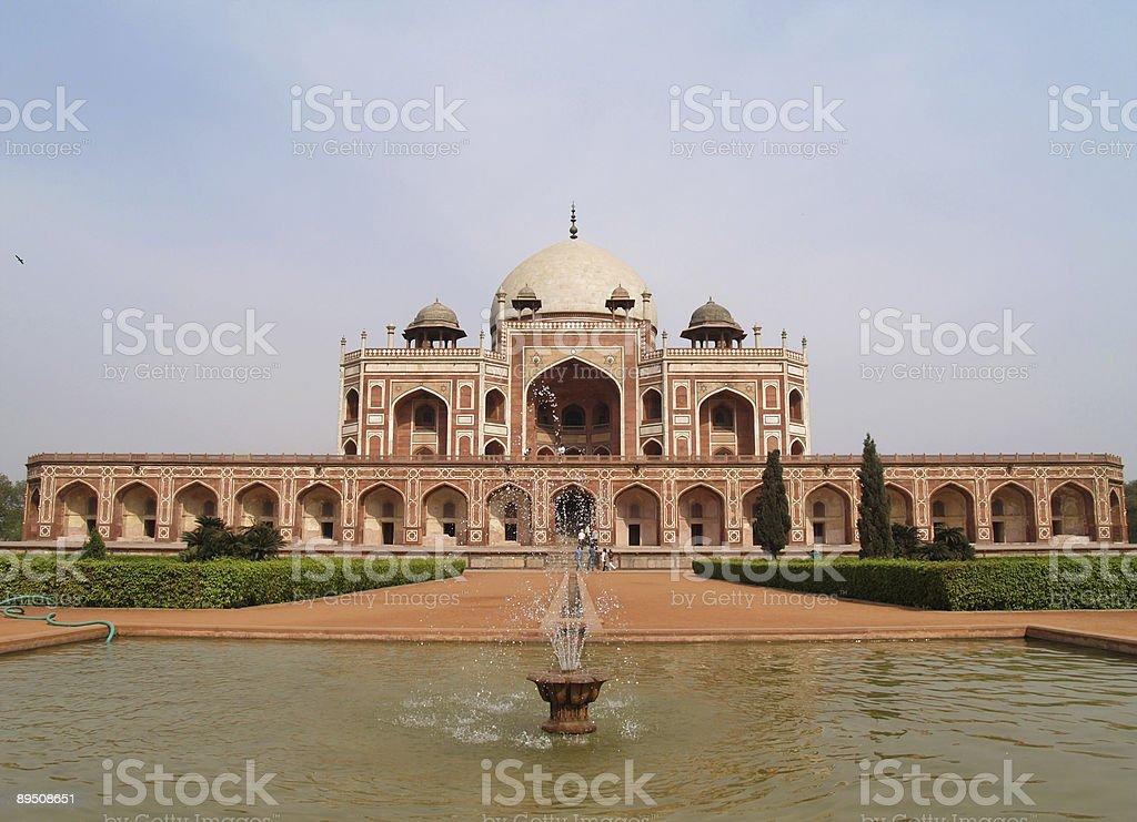 India, Delhi: Humayun tomb royalty-free stock photo