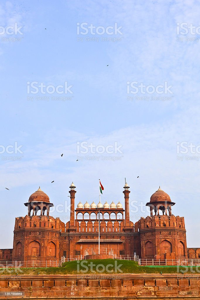 India, Delhi, the Red Fort, Lal Qila stock photo