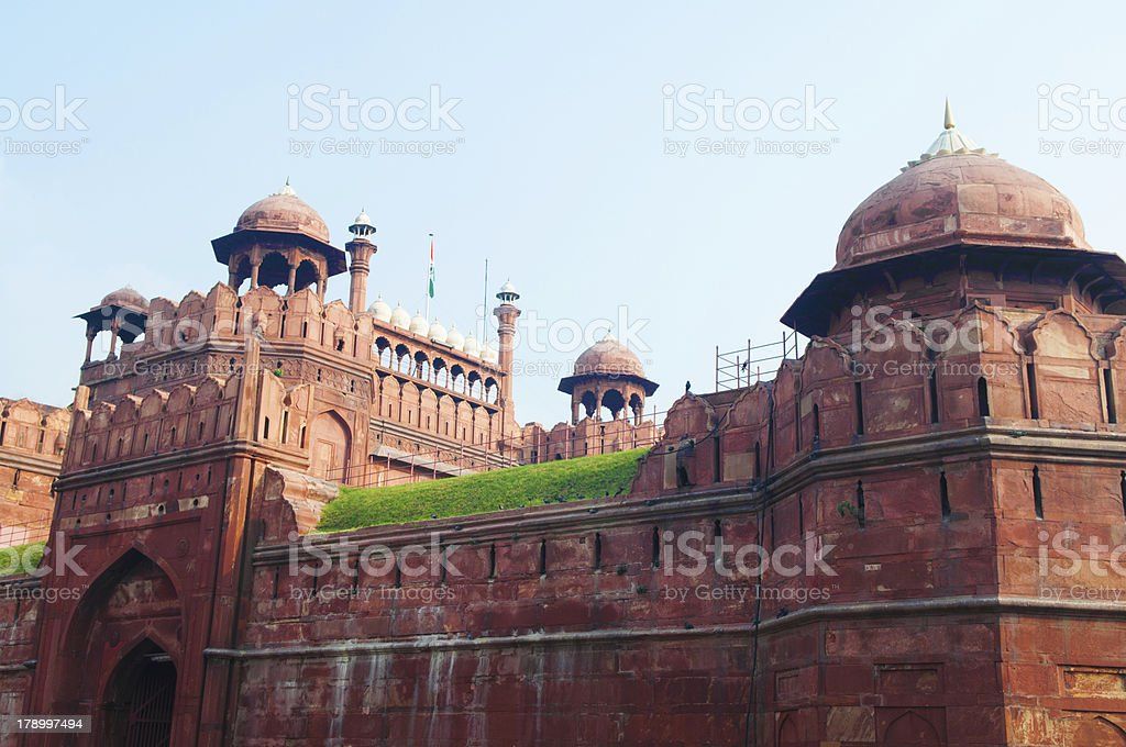 India, Delhi, the Red Fort stock photo