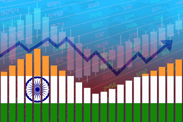 India Economy Improves and Returns to Normal After Crisis stock photo