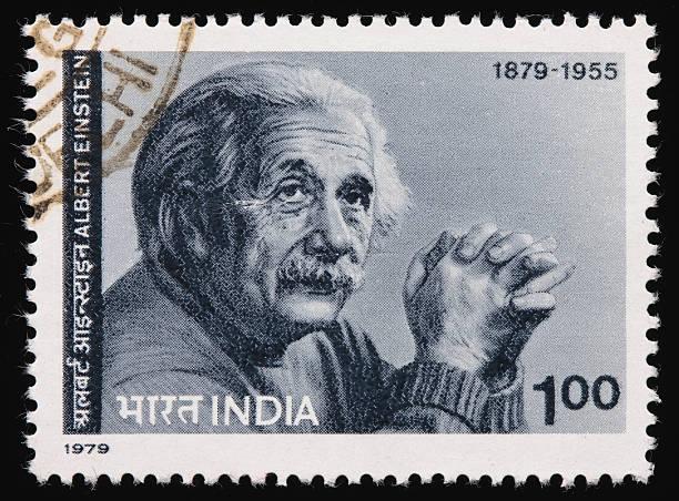 indien einstein briefmarke - berühmte physiker stock-fotos und bilder