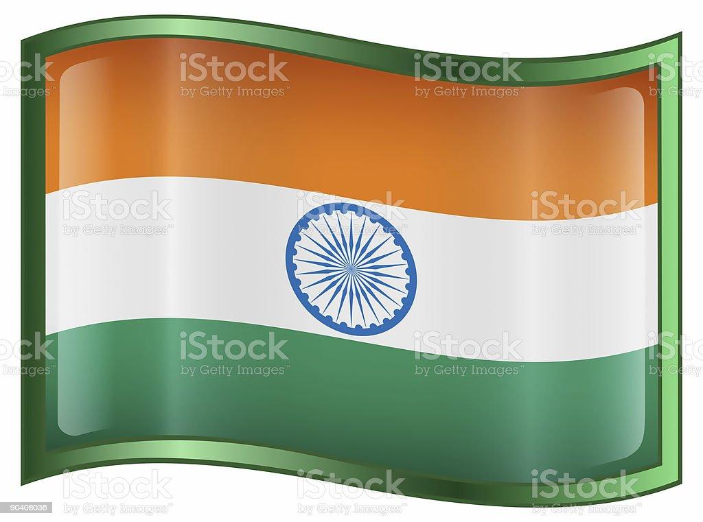 India Flag icon, isolated on white background royalty-free stock photo