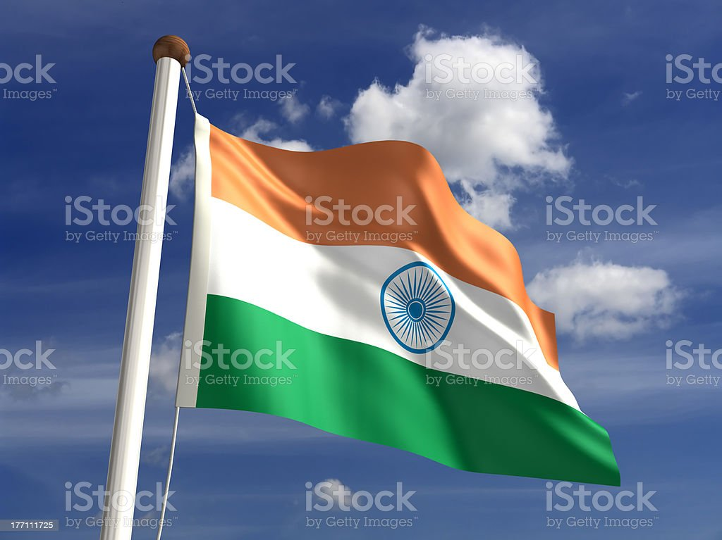 India flag (with clipping path) stock photo