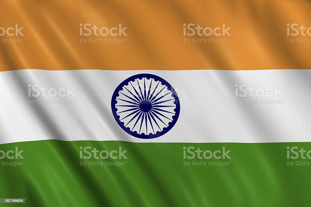 india flag stock photo