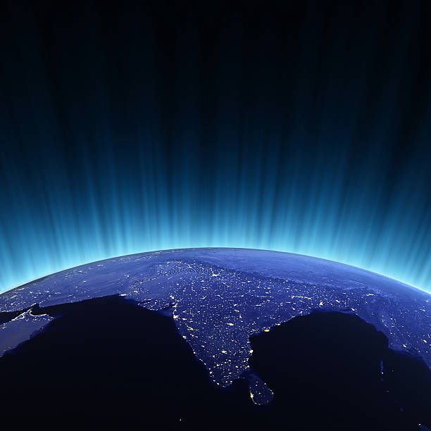 Indien von Raum – Foto