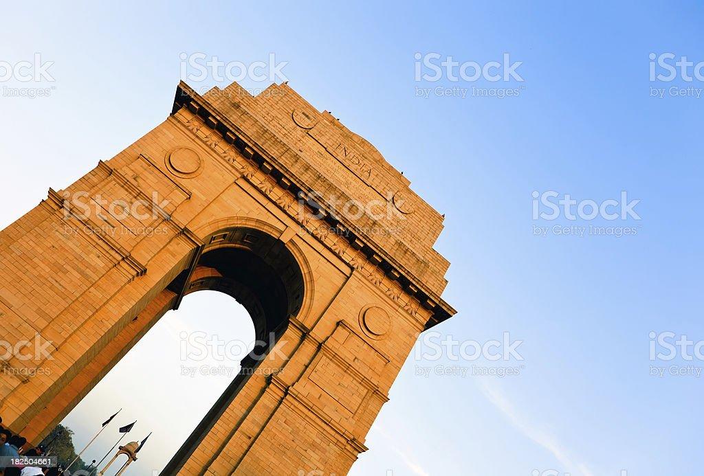 India Gate in Delhi royalty-free stock photo