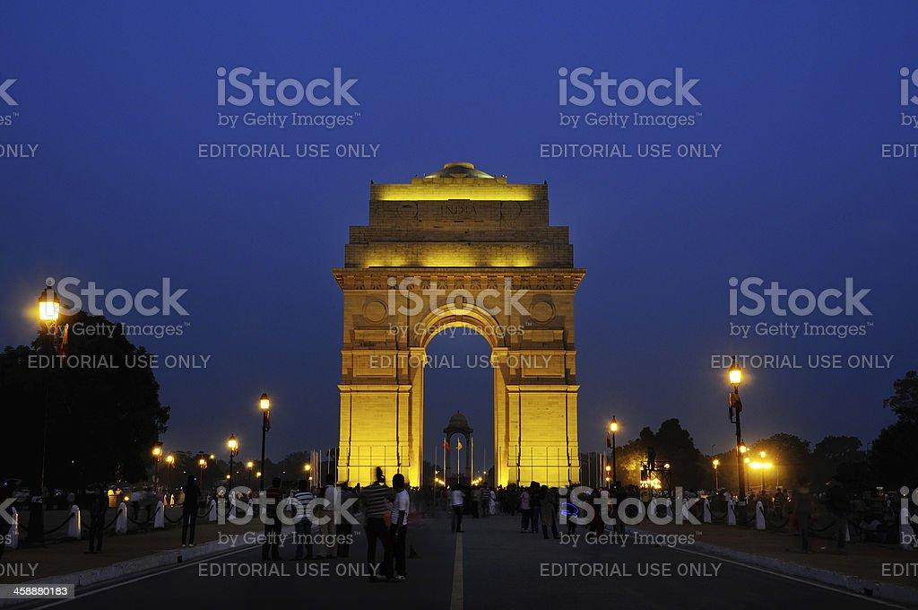 India Gate in New Delhi royalty-free stock photo