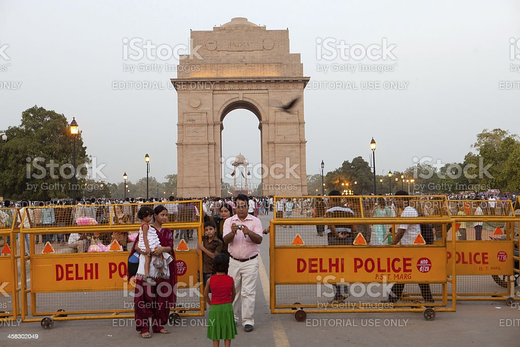 India Gate, New Delhi at dusk royalty-free stock photo