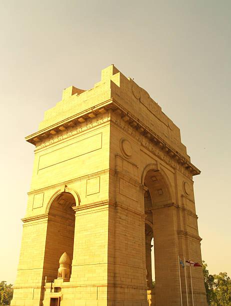 India Gate: New Delhi stock photo