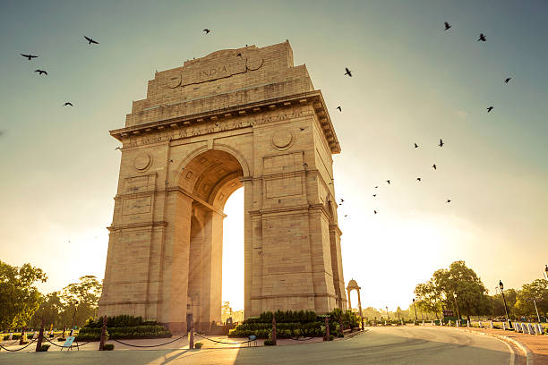 india gate - historic vs new stock photos and pictures