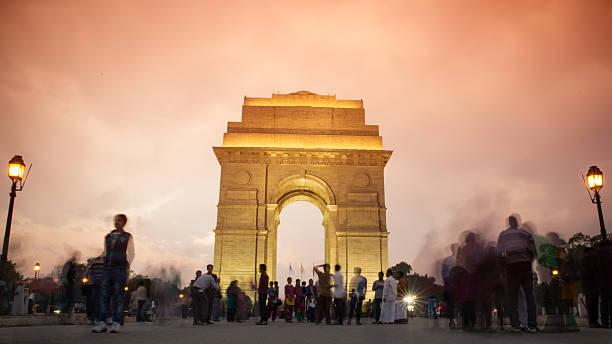 india gate - mumbai stockfoto's en -beelden