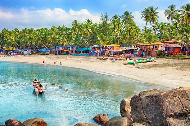гоа, индия, palolem пляж - индия стоковые фото и изображения