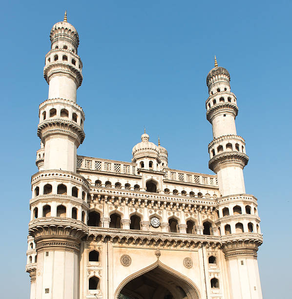India - Hyderabad Charminar or Four Towers are a prominant landmark in Hyderabad, India char minar stock pictures, royalty-free photos & images