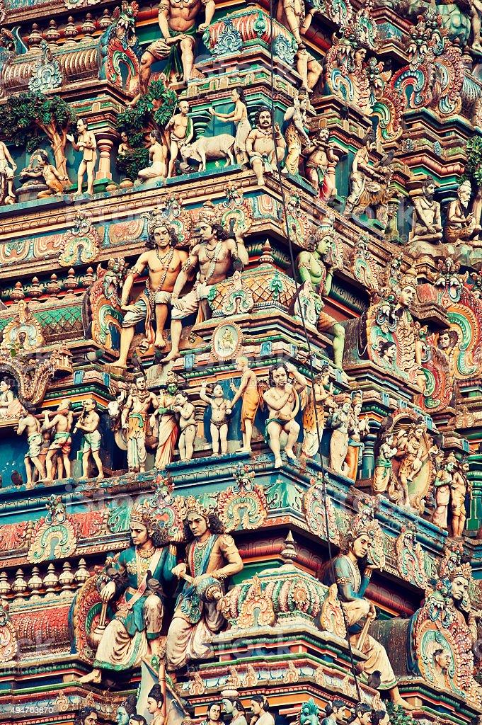 India, Kapaleeswarar temple. stock photo