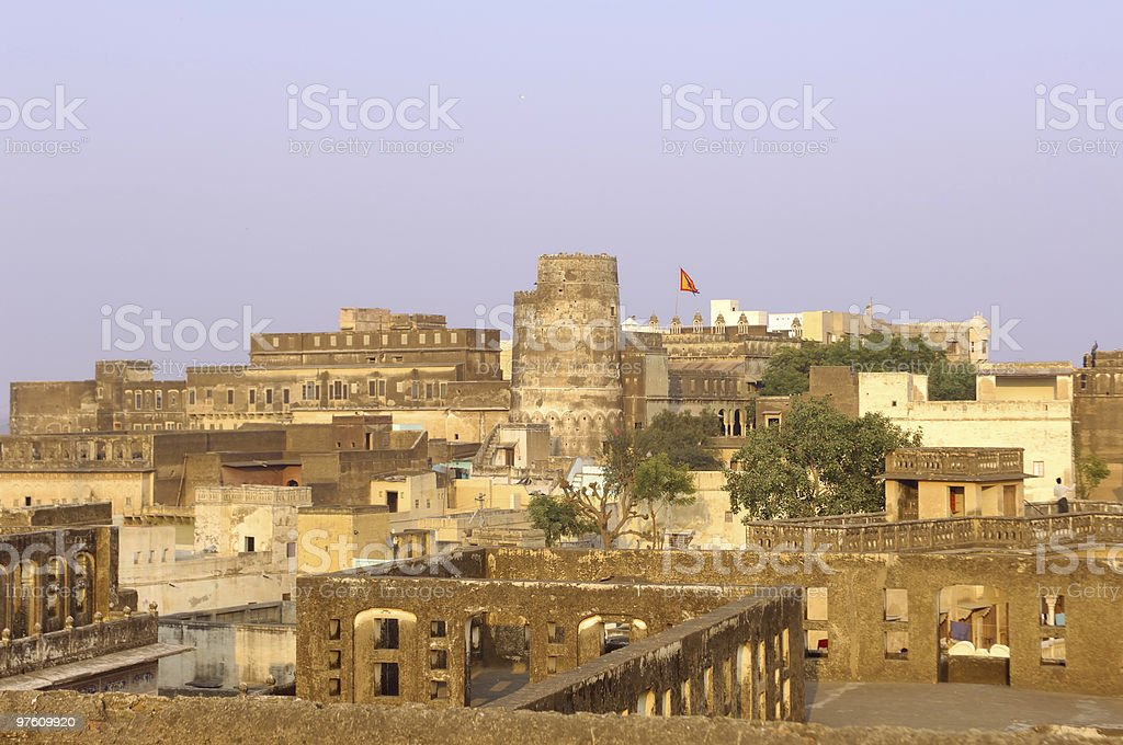 India, Mandawa - city and fort royalty-free stock photo