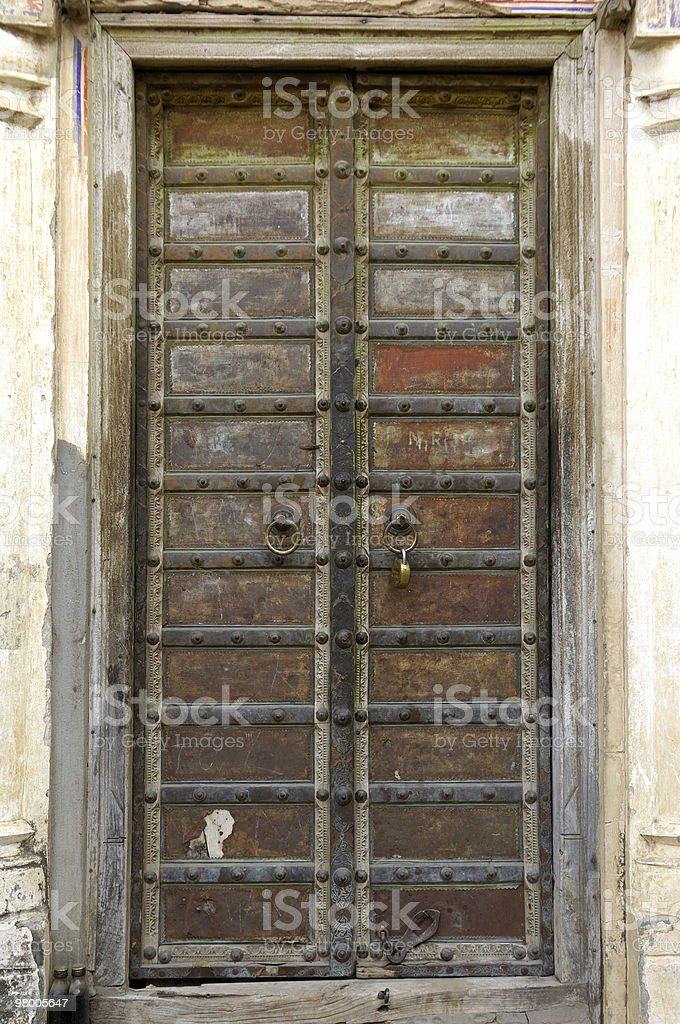 India, Mandawa - old door royalty-free stock photo